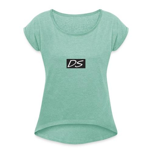 DS - Frauen T-Shirt mit gerollten Ärmeln