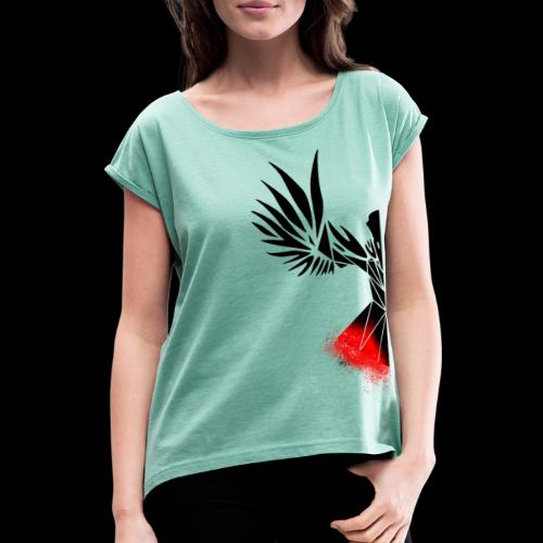 Half Raven - Women's T-Shirt with rolled up sleeves