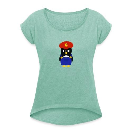 Pingouin Mario - T-shirt à manches retroussées Femme
