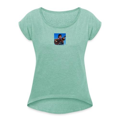 Niniblog - Frauen T-Shirt mit gerollten Ärmeln