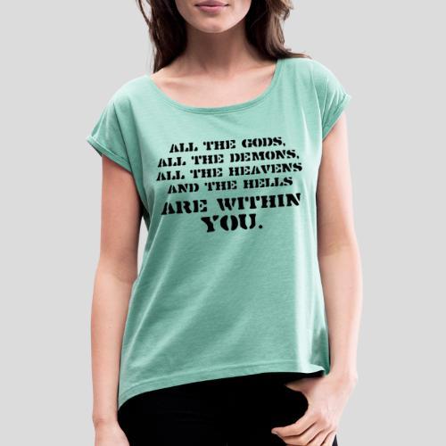 AllGods II - Camiseta con manga enrollada mujer