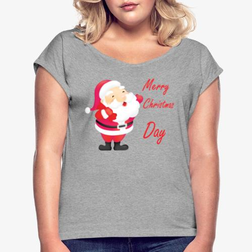 Merry Christmas Day Collections - T-shirt à manches retroussées Femme