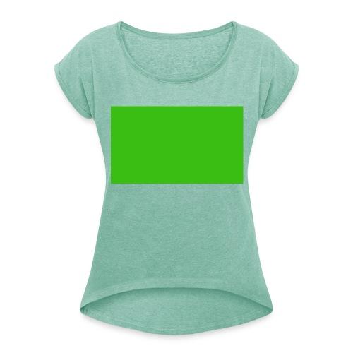 Green Screen - Maglietta da donna con risvolti