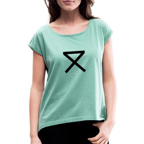 SLICK Clothing - Vrouwen T-shirt met opgerolde mouwen