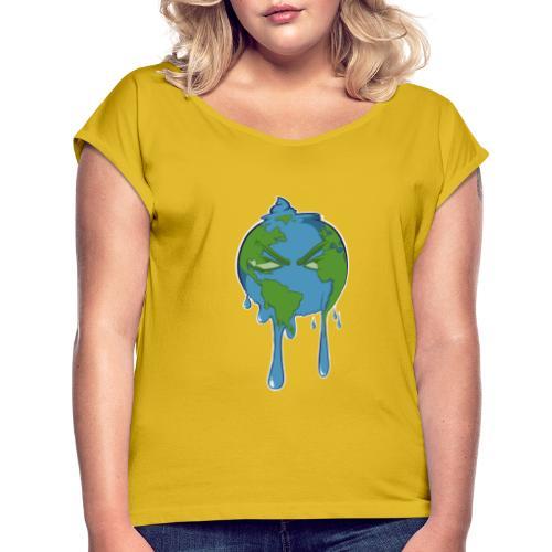planetcontest - T-shirt à manches retroussées Femme