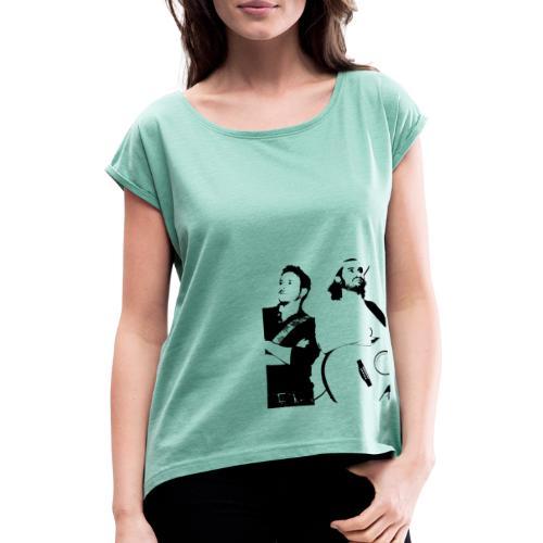 Das Schwarz-Weiße Bild - Frauen T-Shirt mit gerollten Ärmeln