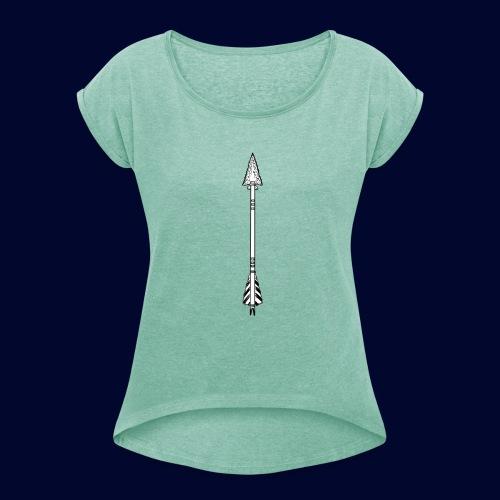 arrow - Frauen T-Shirt mit gerollten Ärmeln