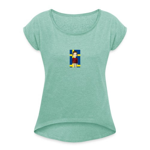SWEBuster - T-shirt med upprullade ärmar dam