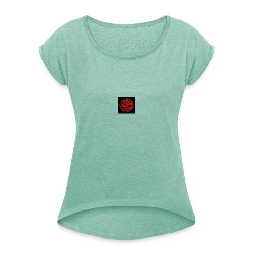 kinesisk drage - T-skjorte med rulleermer for kvinner