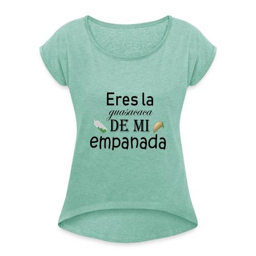 Guasacaca - Camiseta con manga enrollada mujer
