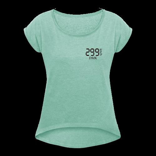 299KM/H DMK Black - T-shirt à manches retroussées Femme