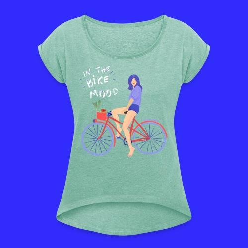 In the Bike mood - T-shirt à manches retroussées Femme