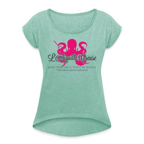 L'aiguille Creuse 1 - T-shirt à manches retroussées Femme