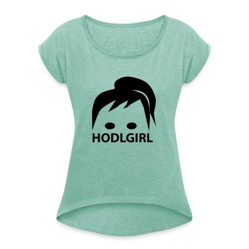 HODLGIRL - Maglietta da donna con risvolti