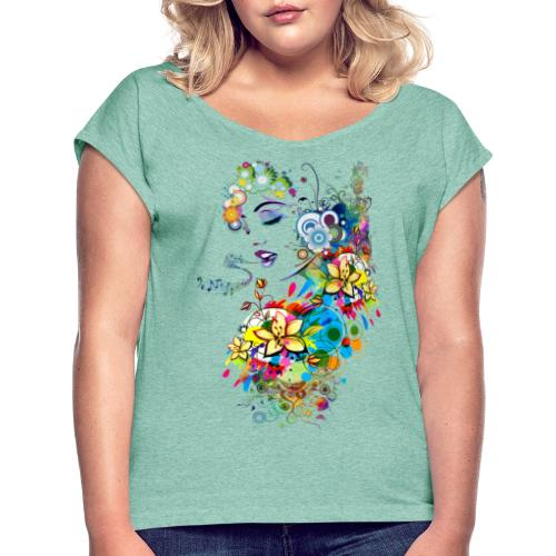 Lady singer - T-shirt à manches retroussées Femme