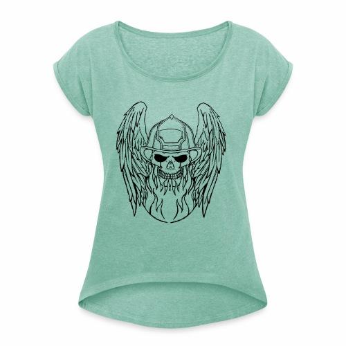 skull angel 2 - T-shirt à manches retroussées Femme