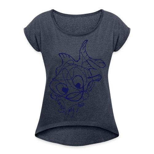 Shanty - Maglietta da donna con risvolti
