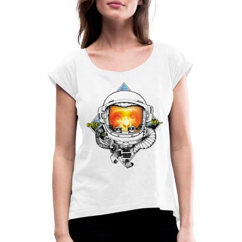 Ape meats Alien - Frauen T-Shirt mit gerollten Ärmeln