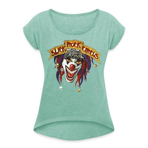 Evil Clown Only! - Frauen T-Shirt mit gerollten Ärmeln