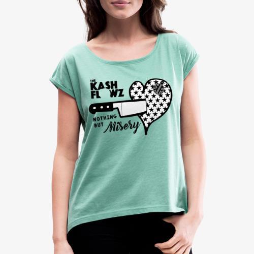 Nothing But Misery Knife Heart Black - T-shirt à manches retroussées Femme