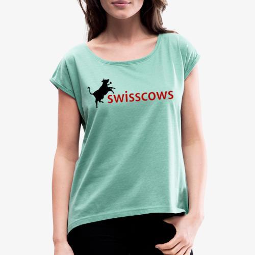 Swisscows - Frauen T-Shirt mit gerollten Ärmeln