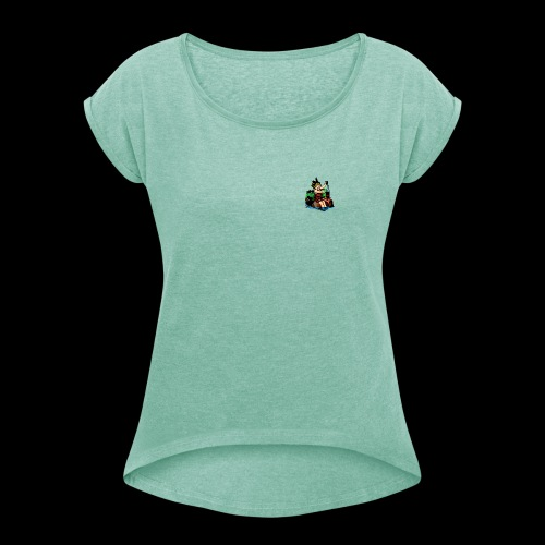 Ready to go shopping - the mask - Women's T-Shirt with rolled up sleeves