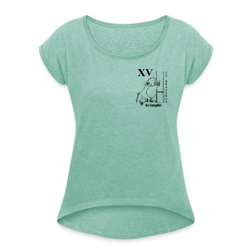 USB Transp gif - T-shirt à manches retroussées Femme
