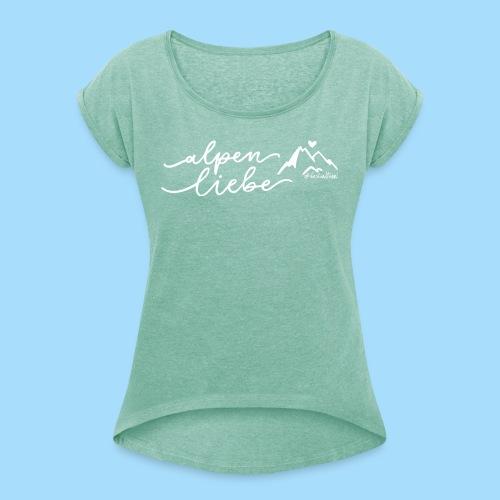 Alpenliebe - Frauen T-Shirt mit gerollten Ärmeln
