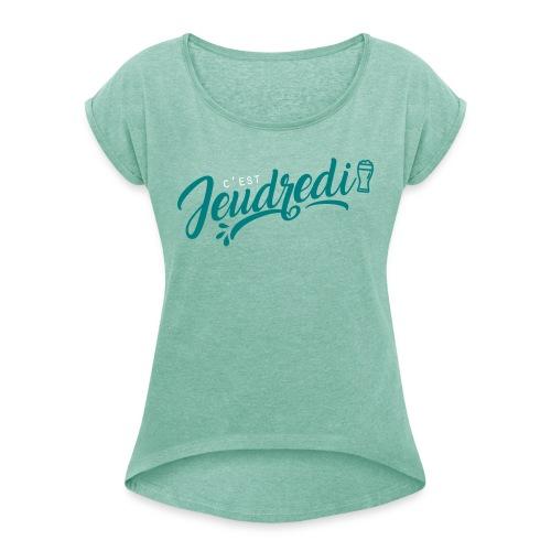 jeudredi - T-shirt à manches retroussées Femme