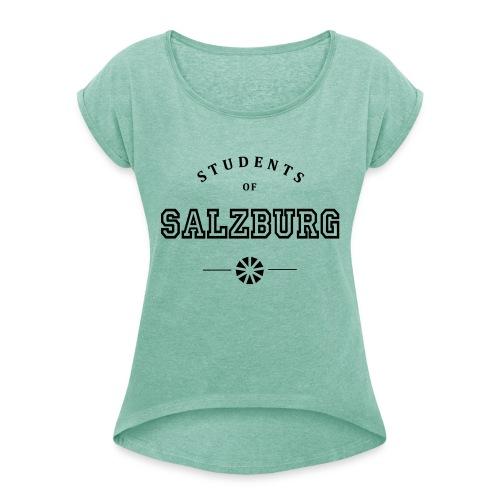 SOS Logo - Frauen T-Shirt mit gerollten Ärmeln