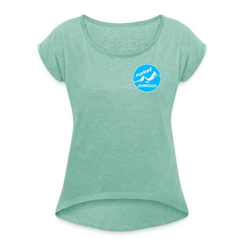 Bergfest der Zahnmedizin - Frauen T-Shirt mit gerollten Ärmeln
