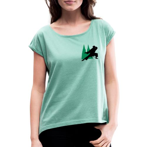 Ju Kengo Dom-Logo - Frauen T-Shirt mit gerollten Ärmeln