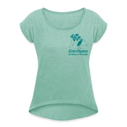 LOGO EBA POITRINE - T-shirt à manches retroussées Femme