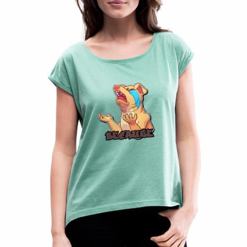 Because - Camiseta con manga enrollada mujer