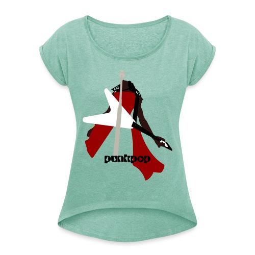 LK AYGGMW PunkPop - Maglietta da donna con risvolti