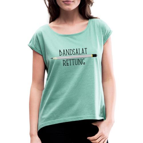 Bleistift Bandsalat Rettung 1 - Frauen T-Shirt mit gerollten Ärmeln