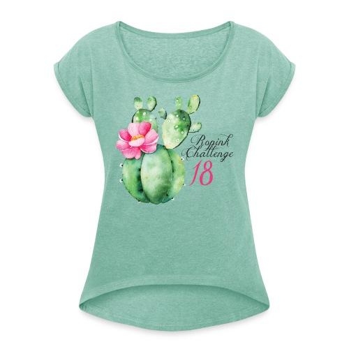 K 18 Cactus - Maglietta da donna con risvolti
