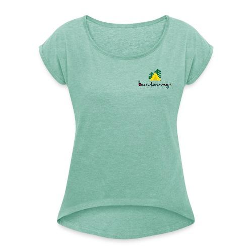 BUNTERwegs - Frauen T-Shirt mit gerollten Ärmeln