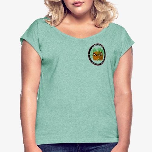 Zirbenvolk - Goes East! - Frauen T-Shirt mit gerollten Ärmeln