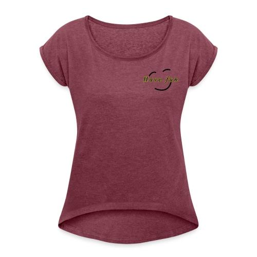 fun - T-shirt à manches retroussées Femme