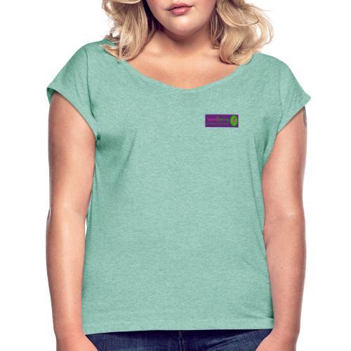 Crazy Yarn Chicken - Frauen T-Shirt mit gerollten Ärmeln