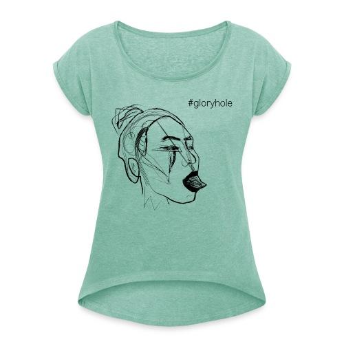 MOSKA - GLORY - Frauen T-Shirt mit gerollten Ärmeln