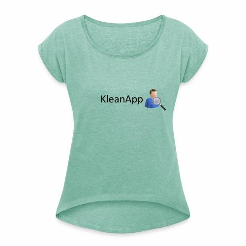 KleanApp Logo - Frauen T-Shirt mit gerollten Ärmeln
