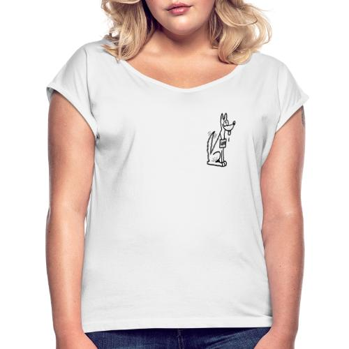 Grrr - T-shirt med upprullade ärmar dam