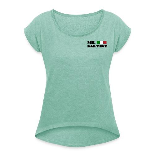 MR. SALVINY - Logo con bandiera - Maglietta da donna con risvolti