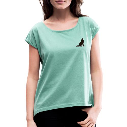 Wolf Pack - Women's T-Shirt with rolled up sleeves