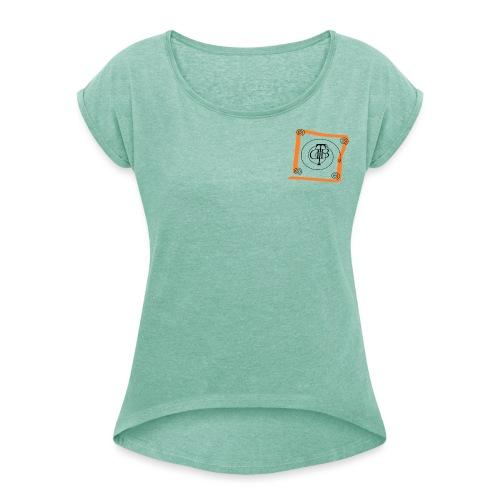 use7476 - Frauen T-Shirt mit gerollten Ärmeln