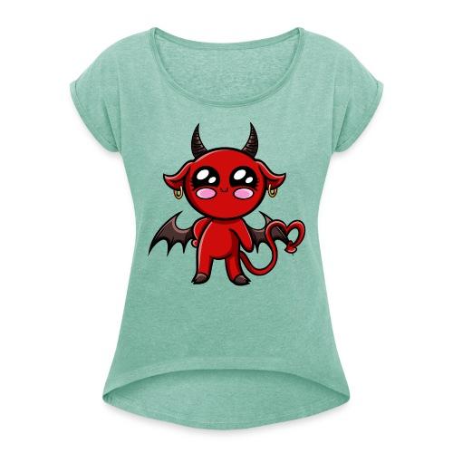 Diablotine Kawaii ! - T-shirt à manches retroussées Femme