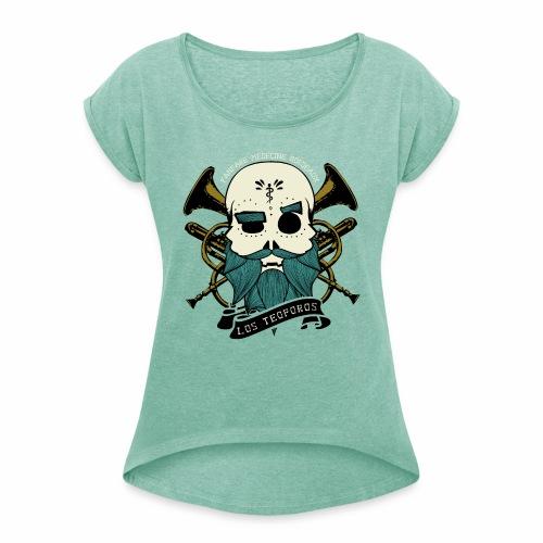 Los Teoporos Logo Pirate - T-shirt à manches retroussées Femme