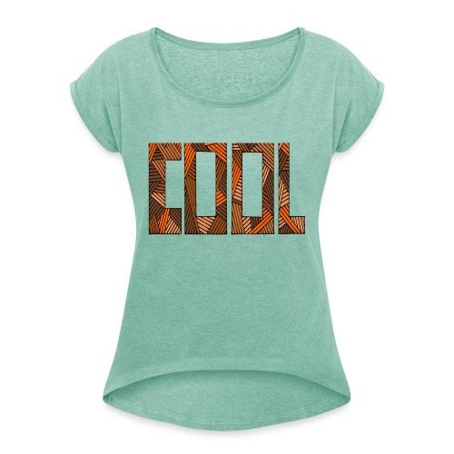 frais - T-shirt à manches retroussées Femme